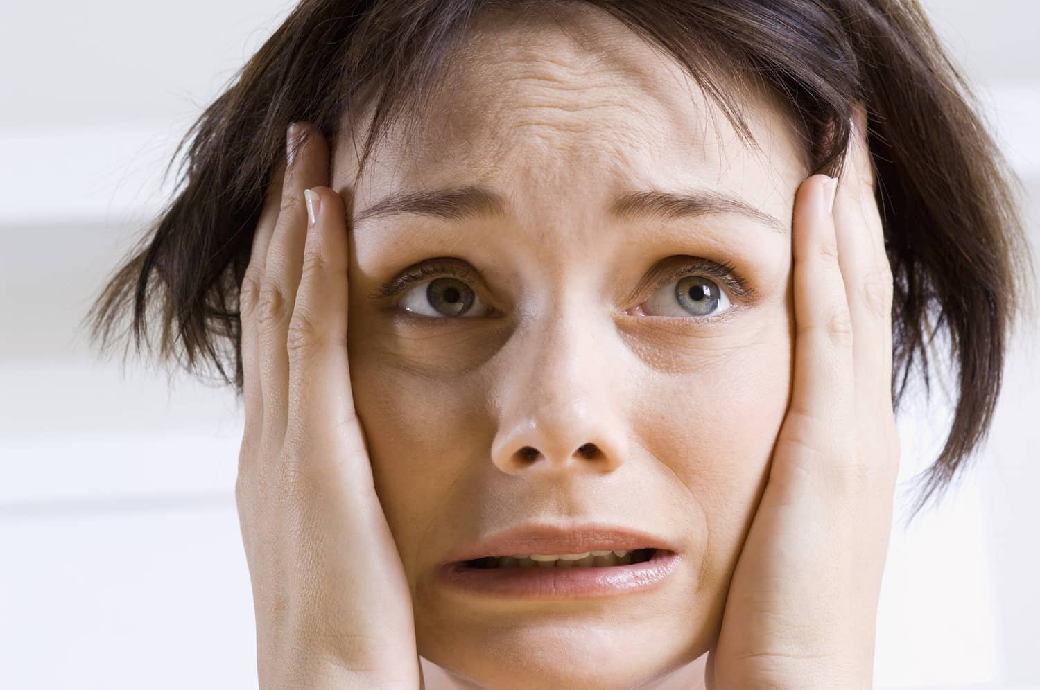 Stressed women suffering anxiety