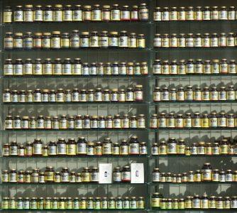 Medicine Cabinet of bottles