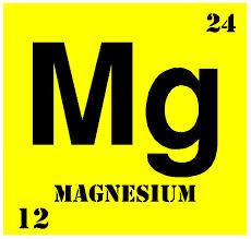 Magnesium Symbol in Bright yellow
